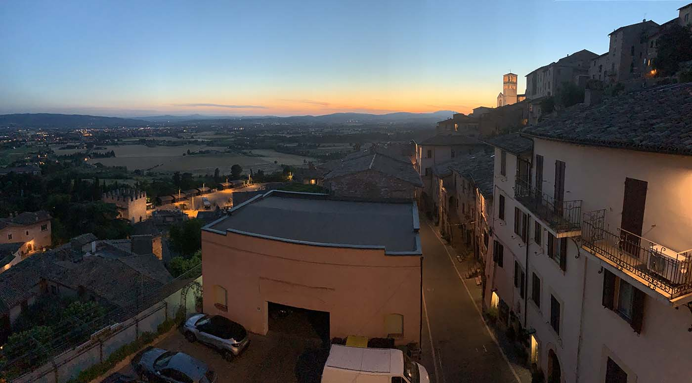 The View outside my window in Assissi- Italy- photo by Kelly Richey