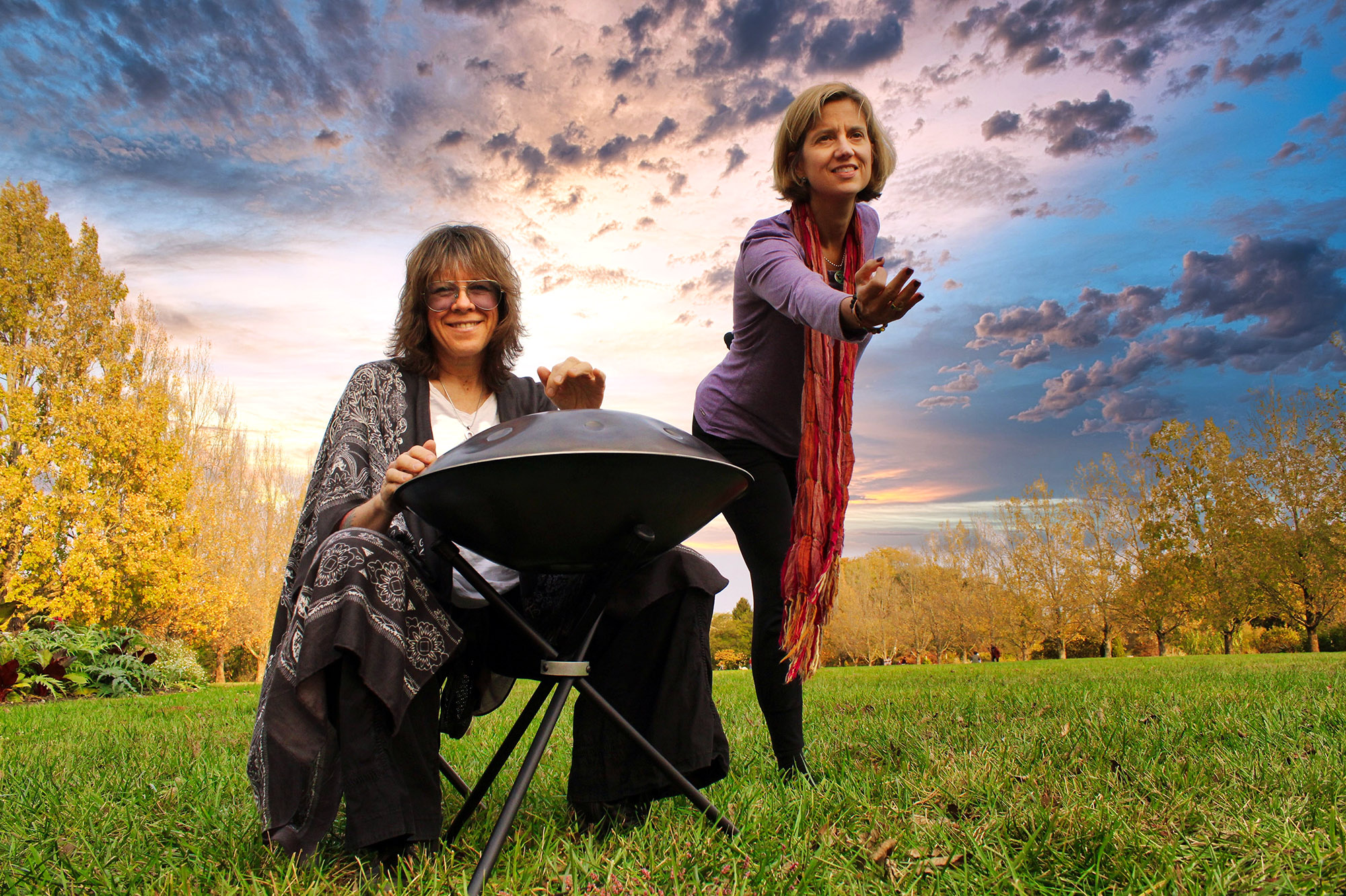 Kelly Richey and Tamara White - Handpan and Yoga - Photo by Jeff Shiflett-1